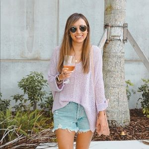 Pink lily lavender sweater
